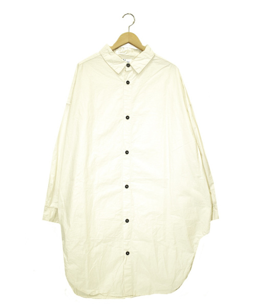 Yarmo(ヤーモ)Yarmo (ヤーモ) オーバーサイズロングシャツ ベージュ サイズ:下記参照 YAR-19AWS11 OVERSIZED SHIRTSの古着・服飾アイテム