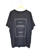 MM6 Maison Margiela(エムエムシックスメゾンマルジェラ)の古着「メッセージロゴTシャツ」|ブラック