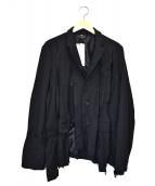 BLACK COMME des GARCONS(ブラックコムデギャルソン)の古着「製品染め変形ジャケット」 ブラック