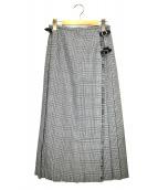 O'NEIL OF DUBLIN × BEAUTY&YOUTH(オニールオブダブリン × ビューティアンドユース)の古着「別注ロングキルトスカート」|グレー