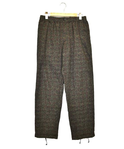 Engineered Garments(エンジニアードガーメンツ)Engineered Garments (エンジニアードガーメンツ) プリントジョガーパンツ ブラウン×グレー サイズ:Mの古着・服飾アイテム
