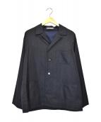 KIJI(キジ)の古着「ウールオープンカラーシャツ」|グレー