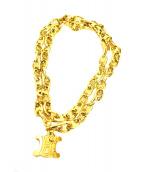 CELINE(セリーヌ)の古着「マカダムチェーンベルト」|ゴールド