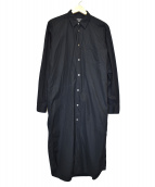 ()の古着「レギュラーカラーロングシャツ」 ブラック
