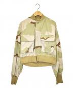 77circa(ナナナナサーカ)の古着「ショートミリタリージャケット」 カーキ