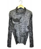 PLEATS PLEASE(プリーツプリーズ)の古着「総柄プリーツシャツ」|グレー