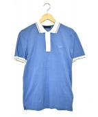 PRADA(プラダ)の古着「ロゴポロシャツ」|スカイブルー