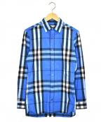 BURBERRY BRIT(バーバリーブリット)の古着「ノヴァチェックシャツ」|スカイブルー