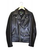 SCHOTT BROS.(ショットブロス)の古着「カウハイドライダースジャケット」 ブラック