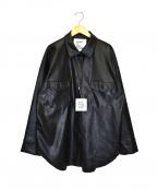 GARAGE OF GOOD CLOTHING(ガレージオブグッドクロージング)の古着「オーバーサイズエコレザーシャツ」|ブラック