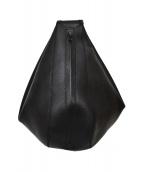 NAOTO SATOH(ナオトサトー)の古着「レザーボディーバッグ」|ブラック