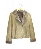 BALLSEY(ボールジィ)の古着「ムートンジャケット」|ライトグレー