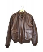 J.A.DUBOW(ジェイエードュボウ)の古着「A-2レザージャケット」|ブラウン