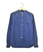 RRL(ダブルアールエル)の古着「総柄バンドカラーシャツ」|インディゴ
