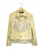 RRL(ダブルアールエル)の古着「フリンジゴートスウェードジャケット」|ベージュ