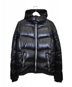EMPORIO ARMANI EA7(エンポリオ アルマーニ イーエーセブン)の古着「フーデットダウンジャケット」|ブラック
