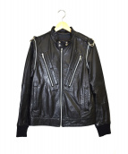 UNDERCOVERISM(アンダーカバイズム)の古着「2WAYアームライダースジャケット」 ブラック