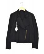 ISSEY MIYAKE(イッセイミヤケ)の古着「コットンデザインジャケット」|ブラック