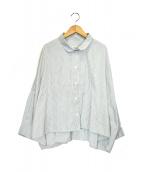 GALLEGO DESPORTES(ギャレゴデスポート)の古着「ワイドシャツボリューム」|ホワイト×グリーン