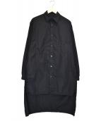 YohjiYamamoto pour homme(ヨウジヤマモトプールオム)の古着「環縫いブロードスタッフシャツ」 ブラック