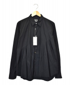 COMME des GARCONS HommePlus(コムデギャルソンオムプリュス)の古着「リビルドフレアシャツ」|ブラック