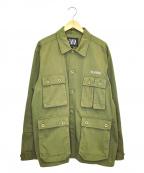 ELVIRA(エルビラ)の古着「バックプリントミリタリージャケット」|オリーブ