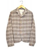 45R(フォーティファイブアール)の古着「杢杢ツイードのジャケット」|ベージュ