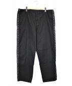 YohjiYamamoto pour homme(ヨウジヤマモトプールオム)の古着「小紋側飾パンツ」|ブラック