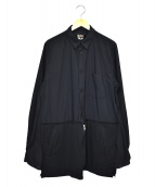 BLACK COMME des GARCONS(ブラックコムデギャルソン)の古着「異素材切替デザインシャツ」|ブラック