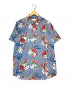 pataloha(パタロハ)の古着「総柄半袖シャツ」|スカイブルー