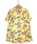 pataloha(パタロハ)の古着「総柄半袖シャツ」|ベージュ