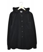 COMME des GARCONS HommePlus(コムデギャルソンオムプリュス)の古着「フーデッドフリースジャケット」|ブラック