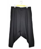 CDG(シーディージーコムデギャルソン)の古着「サルエルワイドパンツ」 ブラック