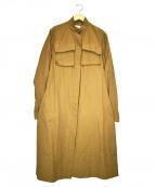 RBS(アールビーエス)の古着「グログランスタンドカラーコート」 ベージュ