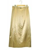 6(ROKU) BEAUTY&YOUTH(ロク ビューティアンドユース)の古着「スリットロングスカート」|ベージュ