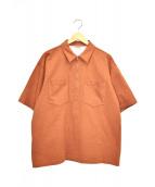 AURALEE(オーラリー)の古着「スタンドアップハーフジップポロ」|ブラウン