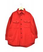 BEAMS BOY(ビームスボーイ)の古着「CPOウールジャケット」|レッド