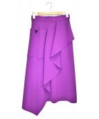 AKIRA NAKA(アキラナカ)の古着「アシンメトリースカート」|パープル