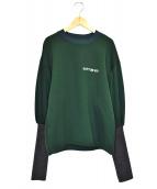 PONTI(ポンチ)の古着「デザインクルーネックスウェット」|グリーン