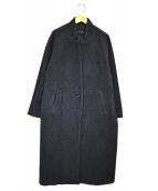 mizuiro-ind(ミズイロインド)の古着「スタンドカラーコート」|グレー
