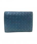 BOTTEGA VENETA()の古着「イントレ2つ折り財布」|ブルー