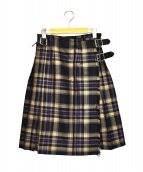 O'NEIL OF DUBLIN(オニール オブ ダブリン)の古着「キルトスカート」|グレー×ベージュ