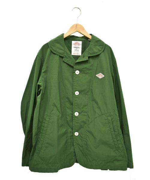 DANTON×BEAMS(ダントン×ビームス)DANTON×BEAMS (ダントン×ビームス) ナイロンジャケット カーキ サイズ:42の古着・服飾アイテム