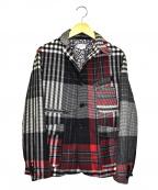 FWk Engineered Garments(エフダブリューケーエンジニアードガーメンツ)の古着「パッチワークジャケット」|ブラック