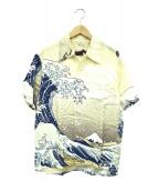SUN SURF×北斎(サンサーフ×ホクサイ)の古着「アロハシャツ」|アイボリー