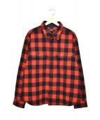 TENDERLOIN(テンダーロイン)の古着「バッファローチェックヘビーシャツジャケット」|レッド×ブラック
