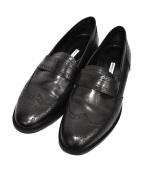 Manolo Blahnik(マノロブラニク)の古着「ウィングチップシューズ」|ブラック