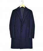 BEAMS F(ビームスエフ)の古着「ウールチェスターコート」|ネイビー