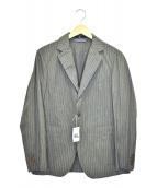 45R(フォーティファイブアール)の古着「コットンストライプテーラードジャケット」|グレー
