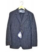 45R(フォーティファイブアール)の古着「製品染インディゴストライプテーラードジャケット」|インディゴ